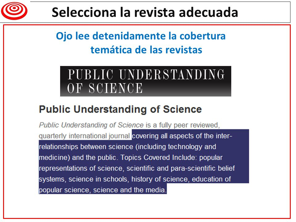 Selecciona la revista adecuada Dear Mr Daniel Torres-Salinas, Thank you for your submission for Journal of Informetrics entitled State of the Library and Information Science blogosphere after social networks boom: a metric approach .