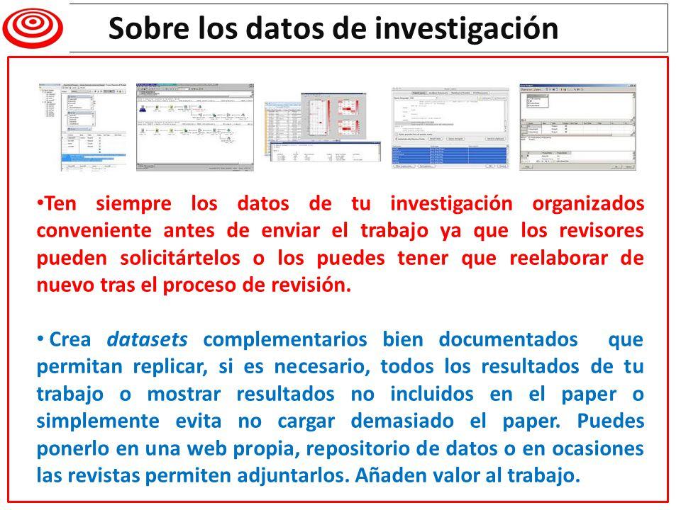 Writing a research paper Sobre los datos de investigación