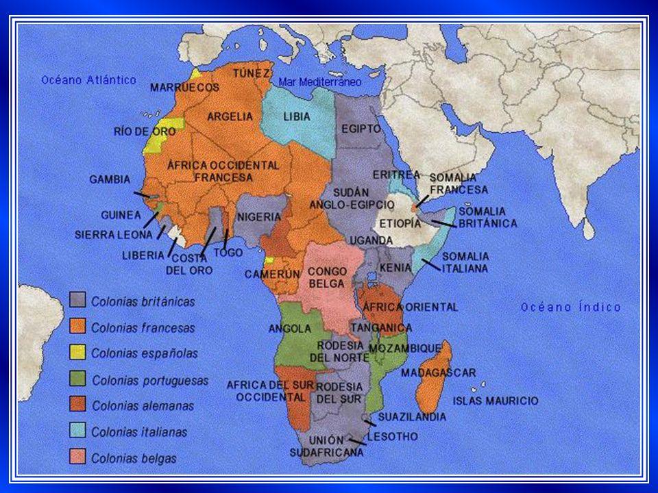 Egipto (protectorado) Sudán Anglo – Egipcio Uganda Kenia (colonia) Tanganica Rodesia del Norte Rodesia del Sur Unión Sudafricana (colonia) Somalia Británica.