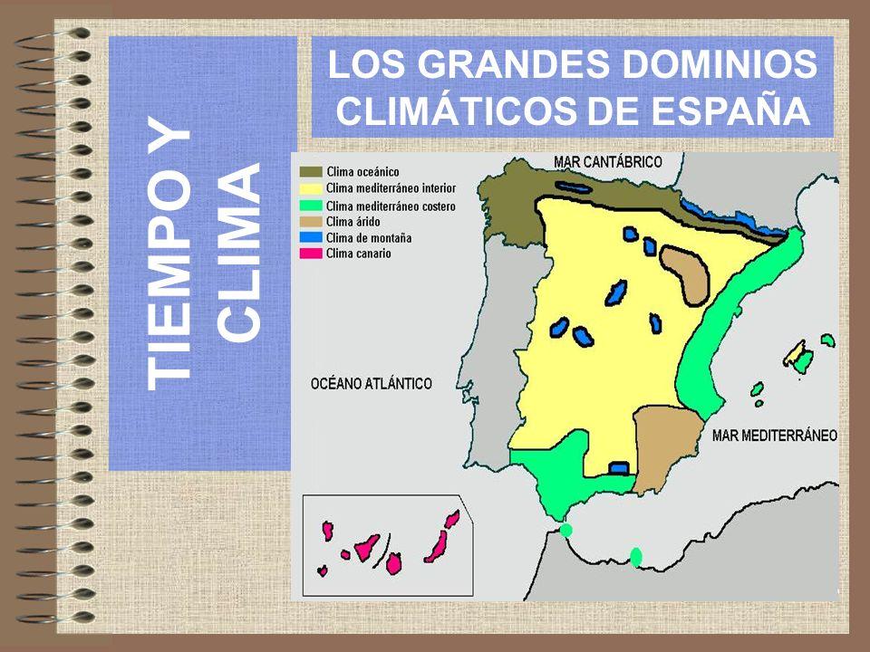 INTRODUCCIÓN España se localiza por su latitud en los dominios climáticos templados, si bien los factores geográficos condicionan la variedad climática existente en la península.