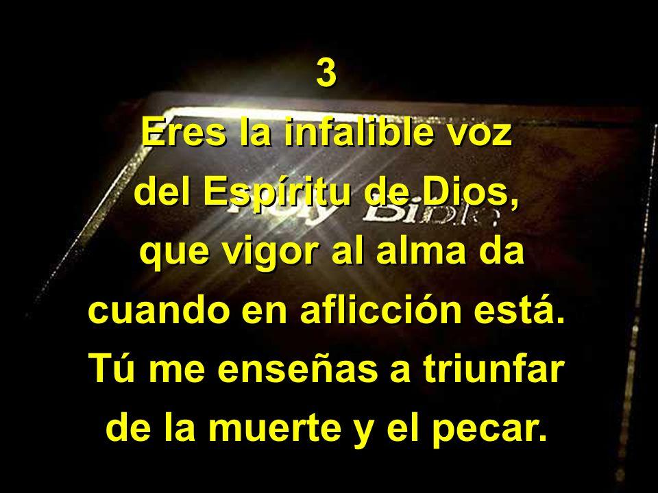 4 Por tu santa letra sé que con Cristo reinaré.