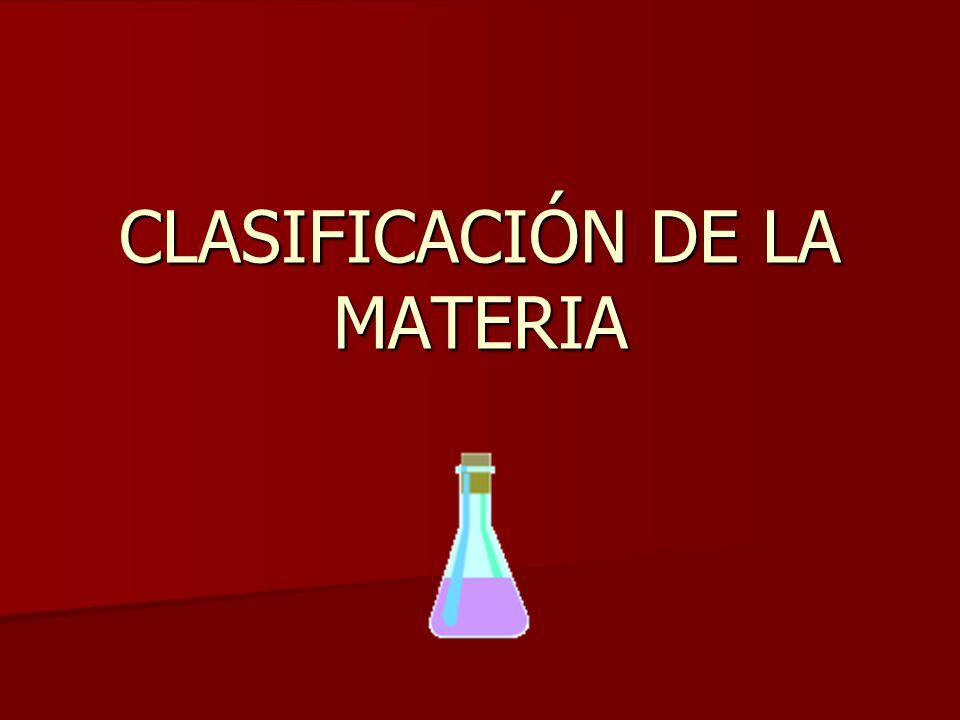 Clasificación de la materia.Sistemas materiales Sustancias puras Simples Un solo tipo de átomo.
