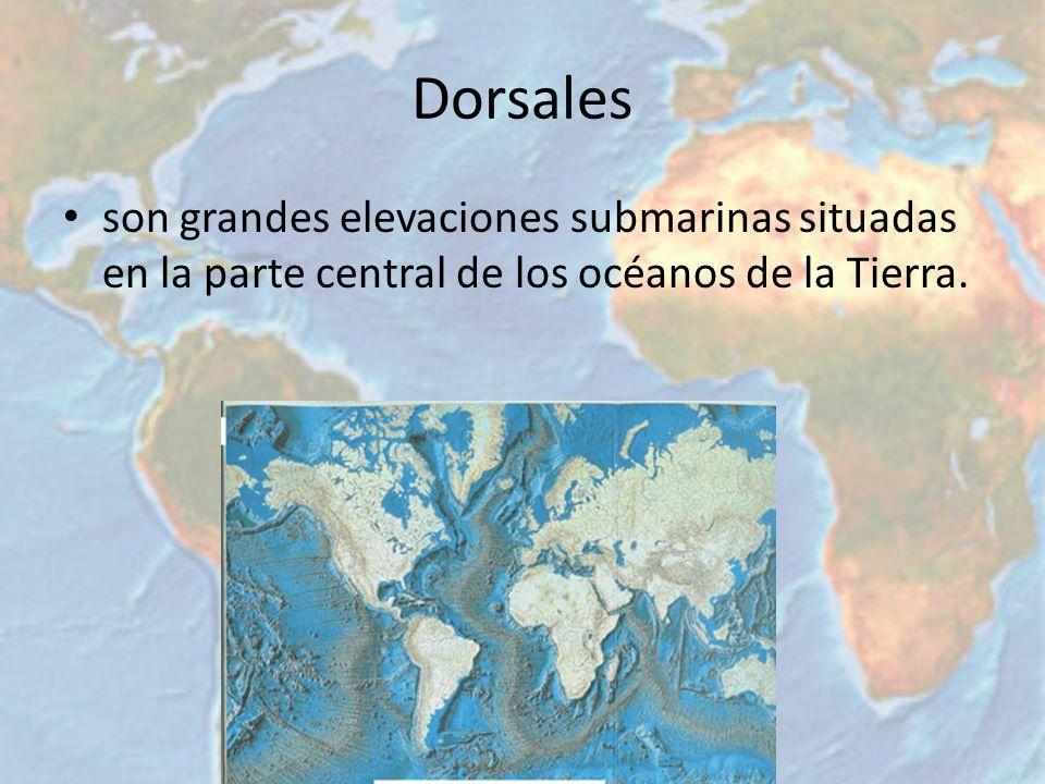 Cuencas submarinas Estas formaciones son la consecuencia del aislamiento que se produce en los fondos oceánicos debido a la elevación de las dorsales; las cuencas corresponden a formaciones que son limitadas por las dorsales y por el borde continental.