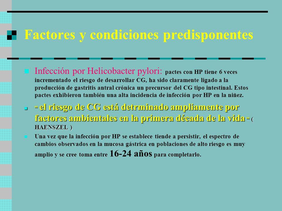 Mecanismos por los que HP incrementa el riesgo 1.