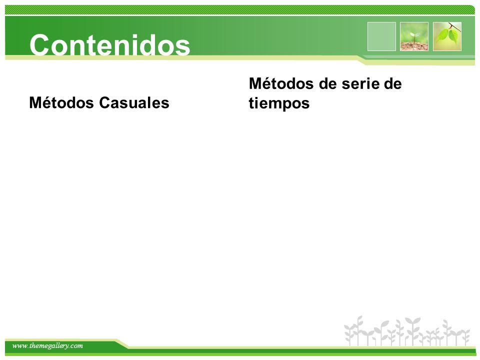 www.themegallery.com Métodos Cuantitativos: En general utilizan un modelo subyacente (L,C y mediano plazo) ¿Áreas que dependen directamente de los pronósticos de la empresa.