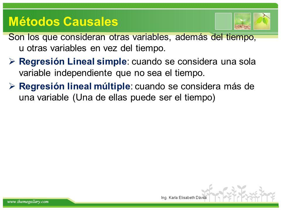 www.themegallery.com características Se basa en el concepto de relación entre variables.