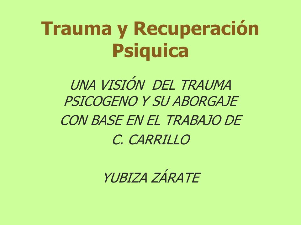 Teoría del Trauma: De acuerdo a Ana Teresa Torres en su obra Elegir la Neurosis 1992: La estructura del Trauma contiene violencia proveniente del exterior y violencia operada en el interior.