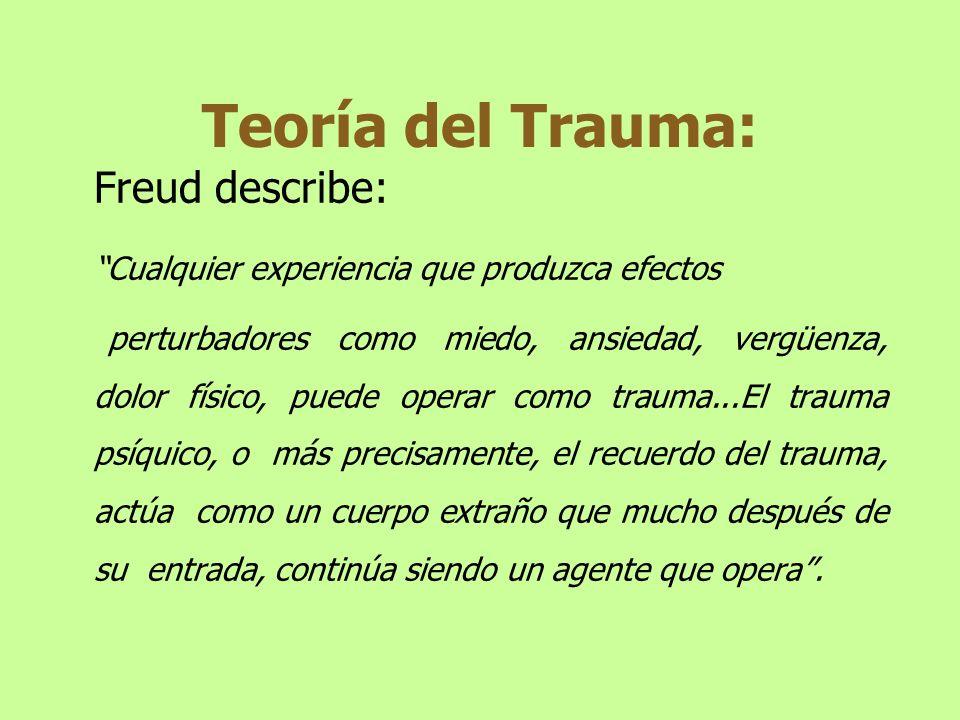 Trastorno de Estrés Post Traumático Esta categoría en el DSM IV supone el papel central del SUCESO (agente estresor reconocible) en la generación de los síntomas de malestar subjetivo y origen externo.