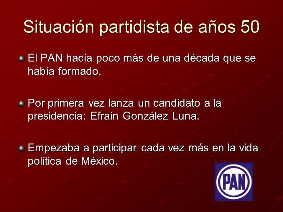 Resultado en 1952 Adolfo Ruiz Cortines (PRI): 74.31% de votos.