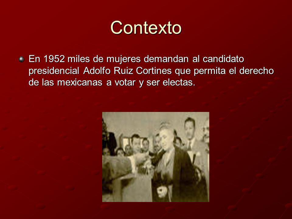 Ruiz Cortines, presidente Adolfo Ruiz Cortines, es presidente de México en 1952.