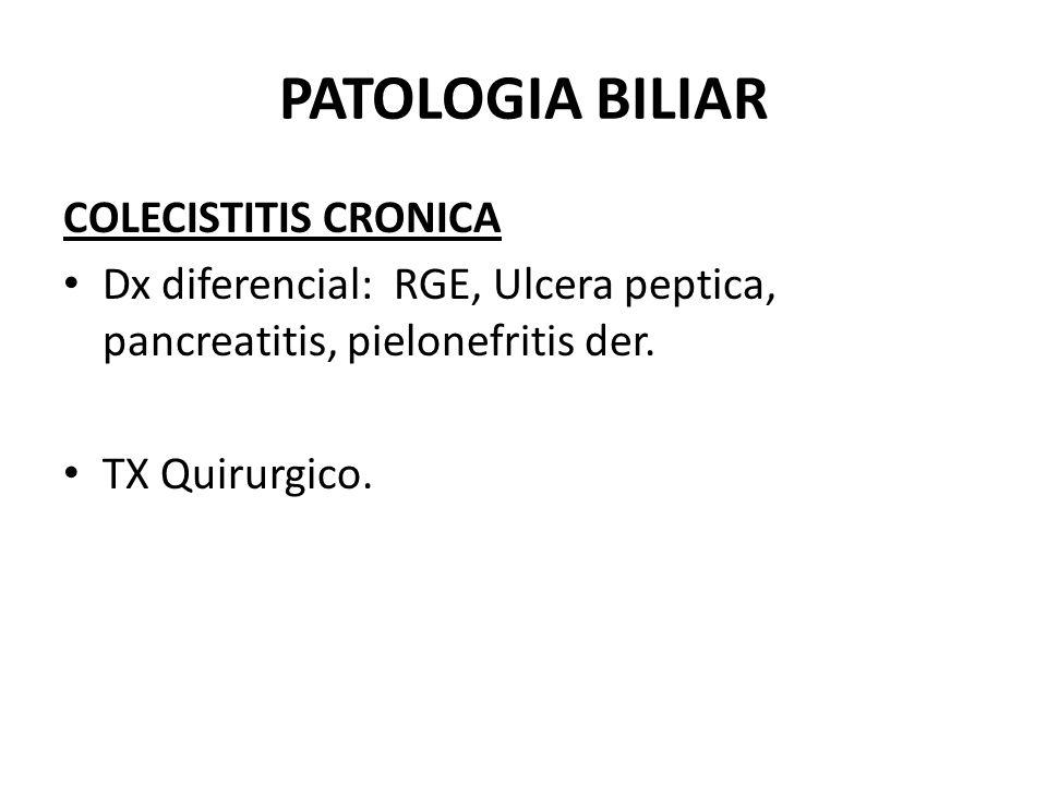 PATOLOGIA BILIAR COLANGITIS Inflamacion bacteriana de la via biliar asociada con obstruccion de la misma.