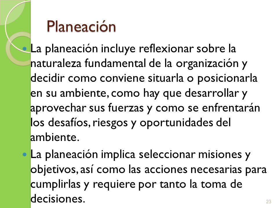 Tipos de Planes Propósitos o misiones Objetivos o metas Estrategias Políticas Procedimientos Reglas Programas Presupuestos 24