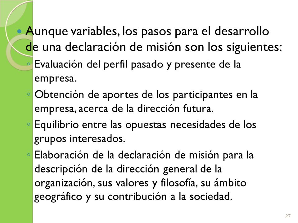 Ejemplos La Misión Corporativa de Productos Fernández S.A.