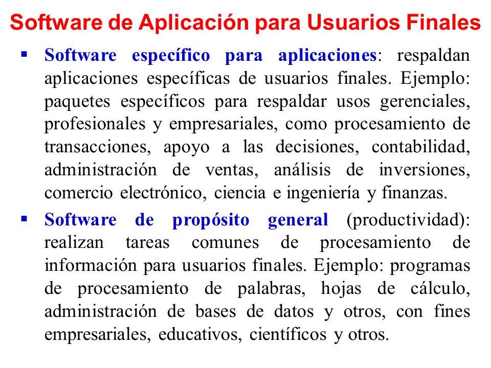 Series de Software Un paquete de aplicación de propósito general es una serie de programas que se distribuyen conjuntamente (serie de software).