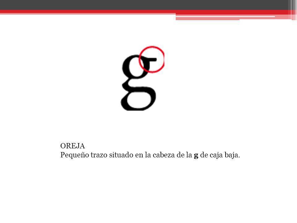 PATA Trazo diagonal que sirve de apoyo a algunas letras. También se puede llamar cola.
