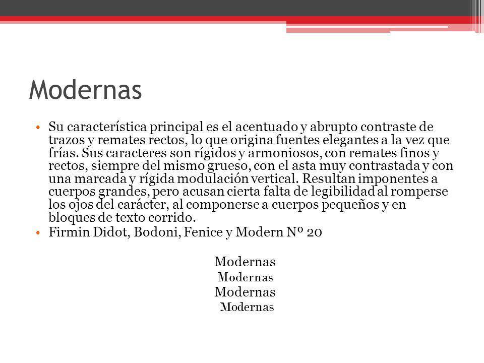 Mecanos No tienen modulación ni contraste Lubalin y Stymie Mecanos