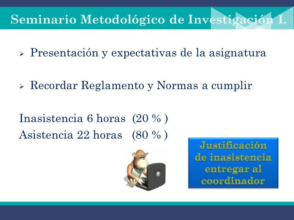 Seminario Metodológico de Investigación I.