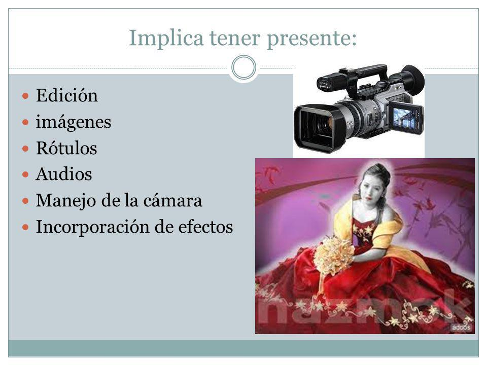 Fase Producción Implica las labores posteriores a la producción que permiten: Publicación del video Evaluación del impacto del video Recomendaciones de los usuarios