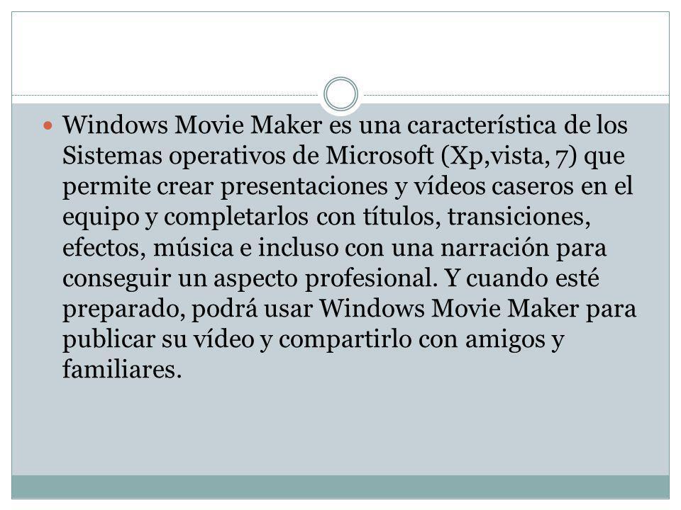 Windows Movie Maker se introdujo en el año 2000 con Windows ME.