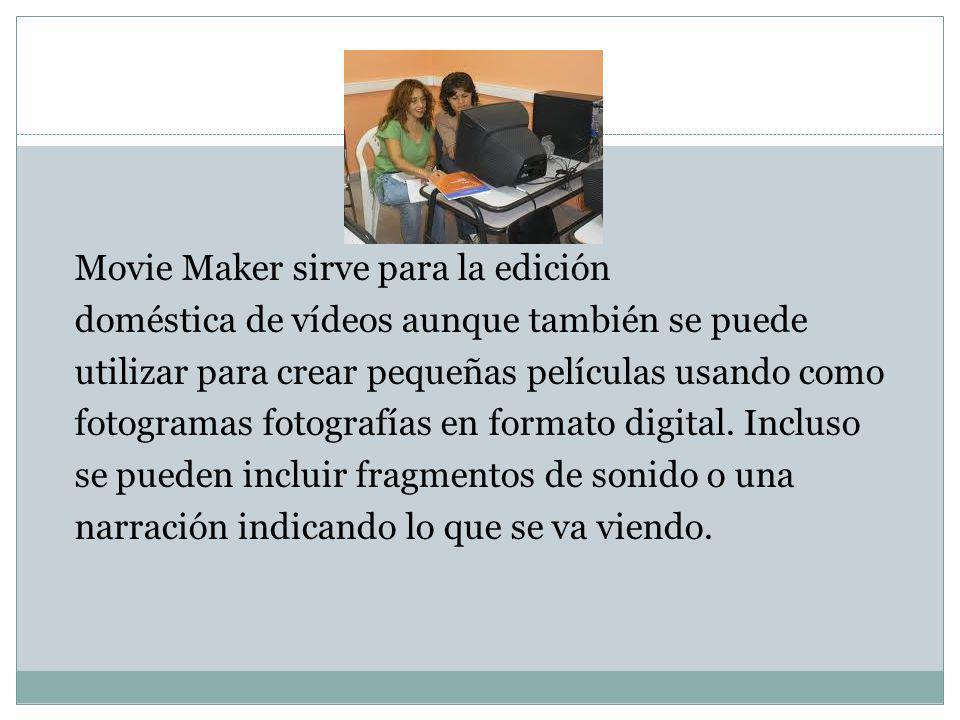 Movie Maker es un recurso mulitmedia que se puede aprovechar para orientar el aprendizaje en la educación tanto presencial, combinando las tecnologías digitales con contenidos audiovisuales y otros recursos comunicativos.