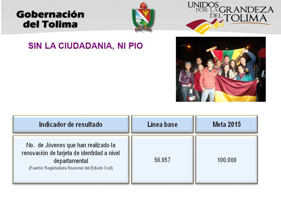 DE LO DICHO AL HECHO, JUVENTUDES CON DERECHOS Meta productoIndicadorLínea base Meta 2015 42 municipios con procesos de promoción para la participación y organización juvenil No.