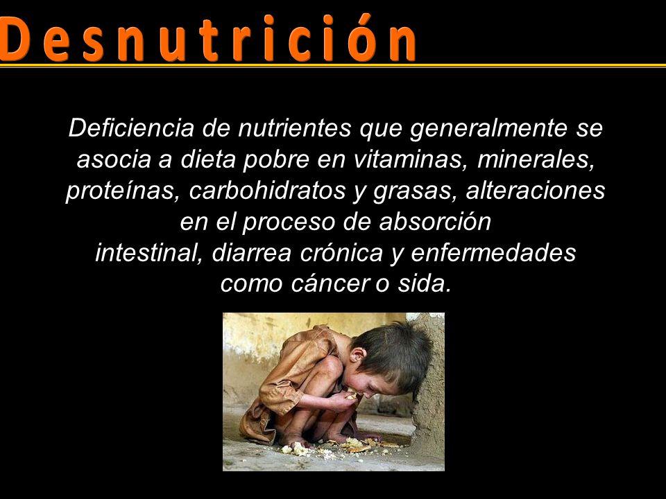 Primaria Aporte insuficiente de nutrimentos.