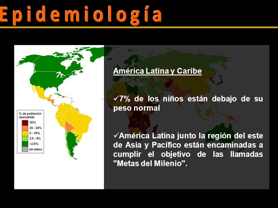 Venezuela En 1990 se registró 7,7% de desnutrición infantil En el 2009, se registró 3,2%