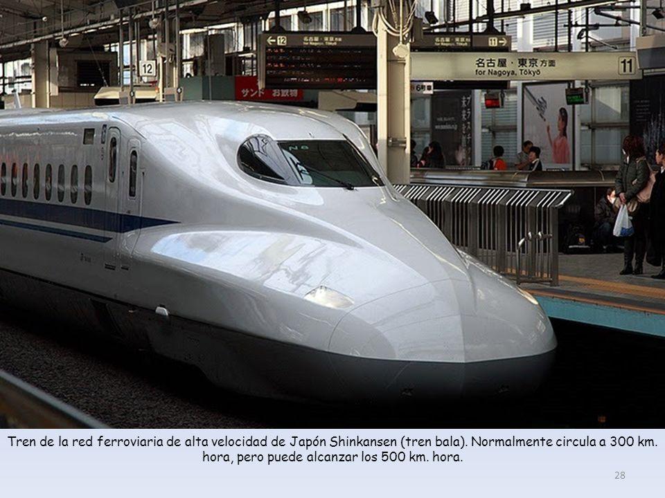 Tren de la red ferroviaria de alta velocidad de Japón Shinkansen (tren bala).