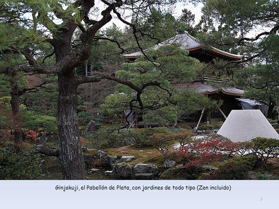 Ginjakuji, el Pabellón de Plata, con jardines de todo tipo (Zen incluido) 7