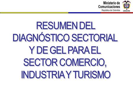 DIAGNÓSTICO SECTORIAL