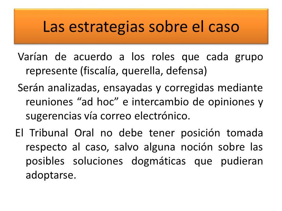 El desarrollo de la audiencia -generalidades- Rol del Tribunal Oral: dirigir el debate.