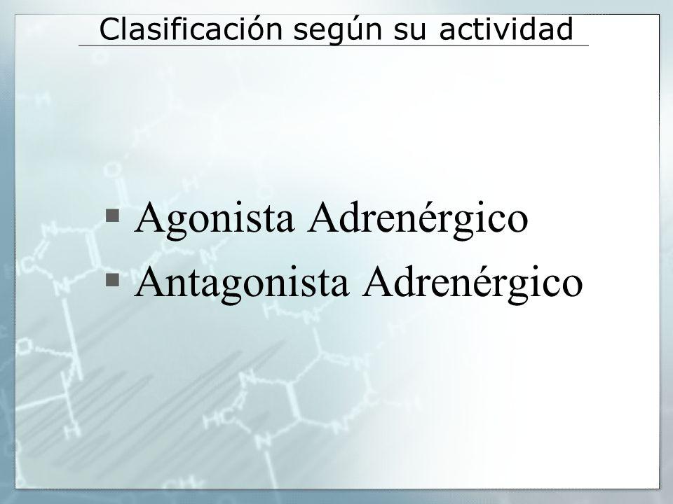 Agonistas selectivos 1 la resistencia vascular periférica y PA Fenilefrina Descongestionante nasal y midriático.