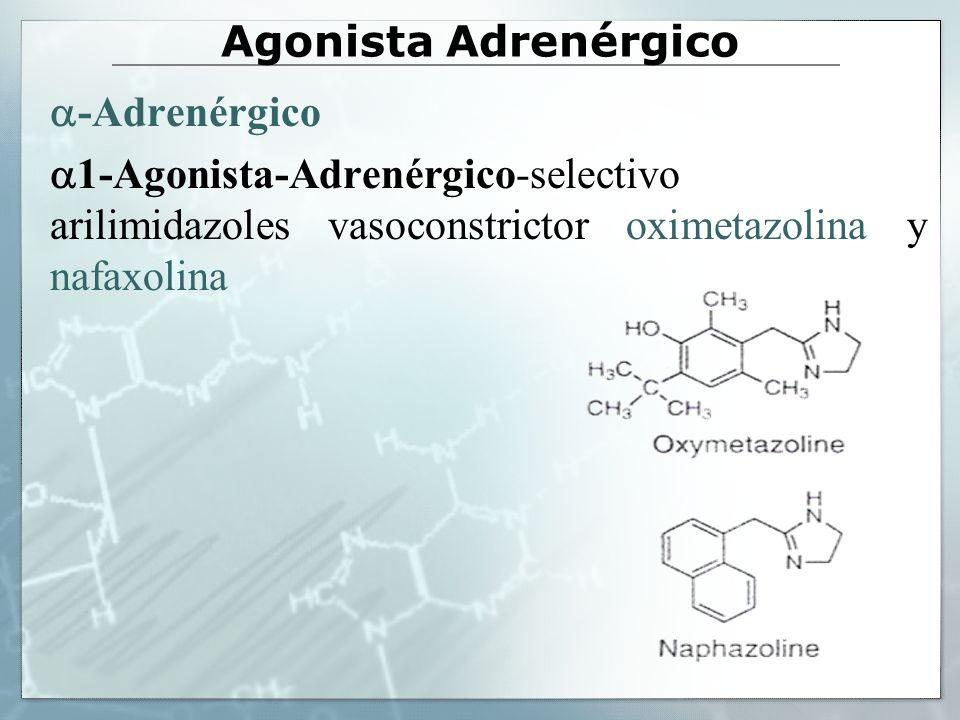 Otros agonistas adrenérgicos Congestión nasal alivio sintomático (agonistas y ).