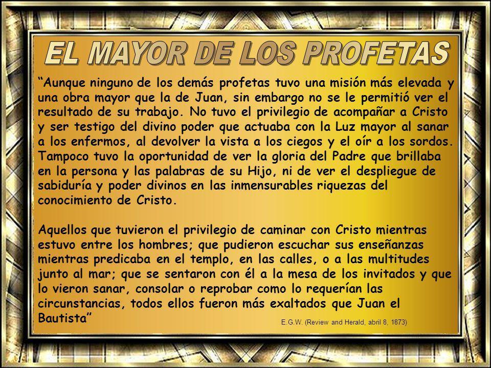 El don profético continuó en el Nuevo Testamento con los siguientes profetas: Zacarías (Lucas, 1: 67) y su hijo Juan el Bautista (Juan, 1: 6-7) Simeón y Ana.