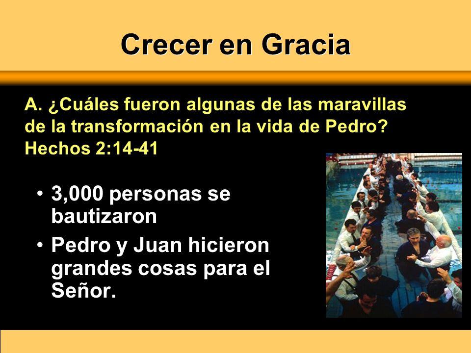 Crecer en Gracia Administró el crecimiento rápido de la iglesia.
