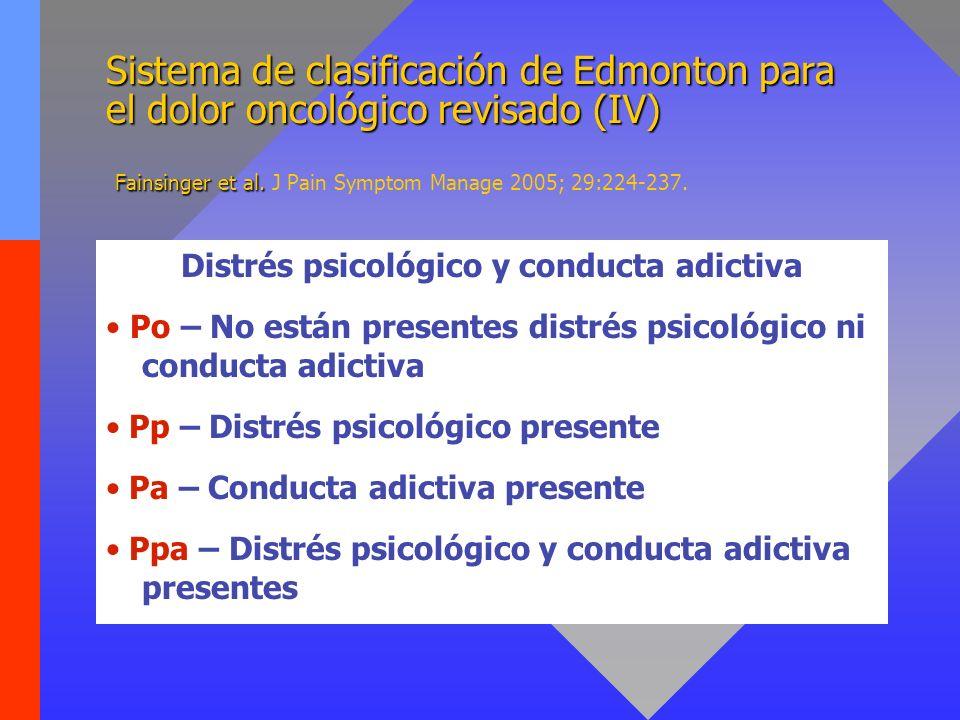 Sistema de clasificación de Edmonton para el dolor oncológico revisado (V) Fainsinger et al.