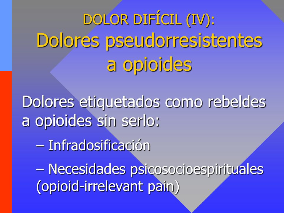 DOLOR DIFÍCIL (V): Dolores semirresistentes a opioides Metástasis óseas Metástasis óseas Compresión nerviosa Compresión nerviosa Aumento de la presión intracraneal Aumento de la presión intracraneal