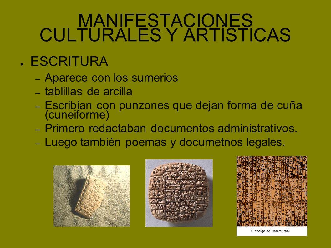 MANIFESTACIONES CULTURALES Y ARTÍSTICAS ARQUITECTURA – Materiales: adobe y ladrillo – Se decoraban con cerámica coloreada, relieves...
