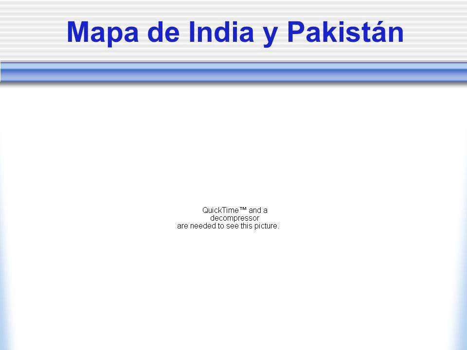 La India: la historia Fue colonia británica junto con Pakistán hasta 1947.