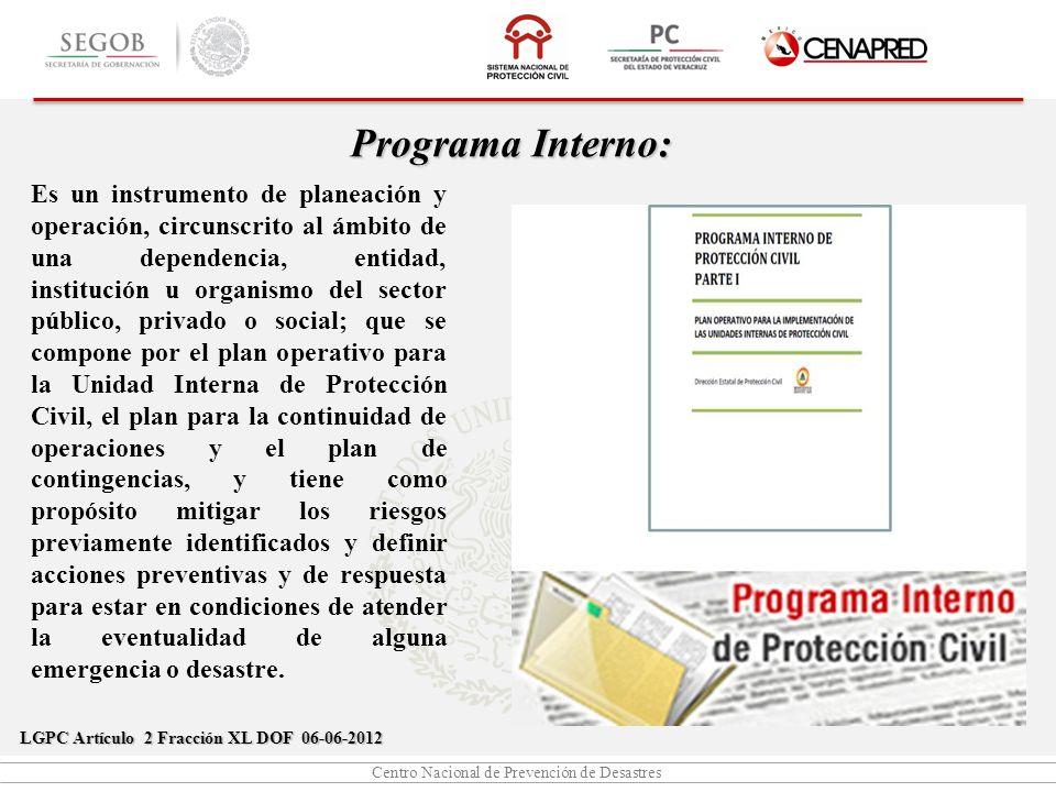 Centro Nacional de Prevención de Desastres Acciones de Protección Civil ACCIONES DE PREVENCIÓN ACCIONES DE AUXILIO ACCIONES DE RECUPERACIÓN
