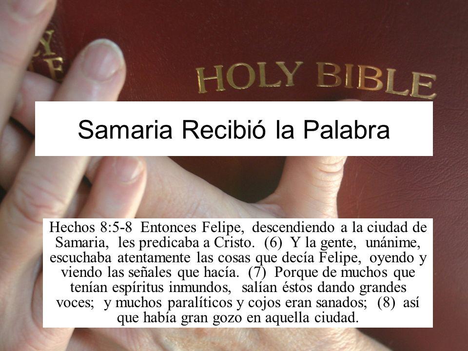 La Conversión de Samaria El libro de Hechos registra varios casos de conversión después de que los apóstoles predicaran.