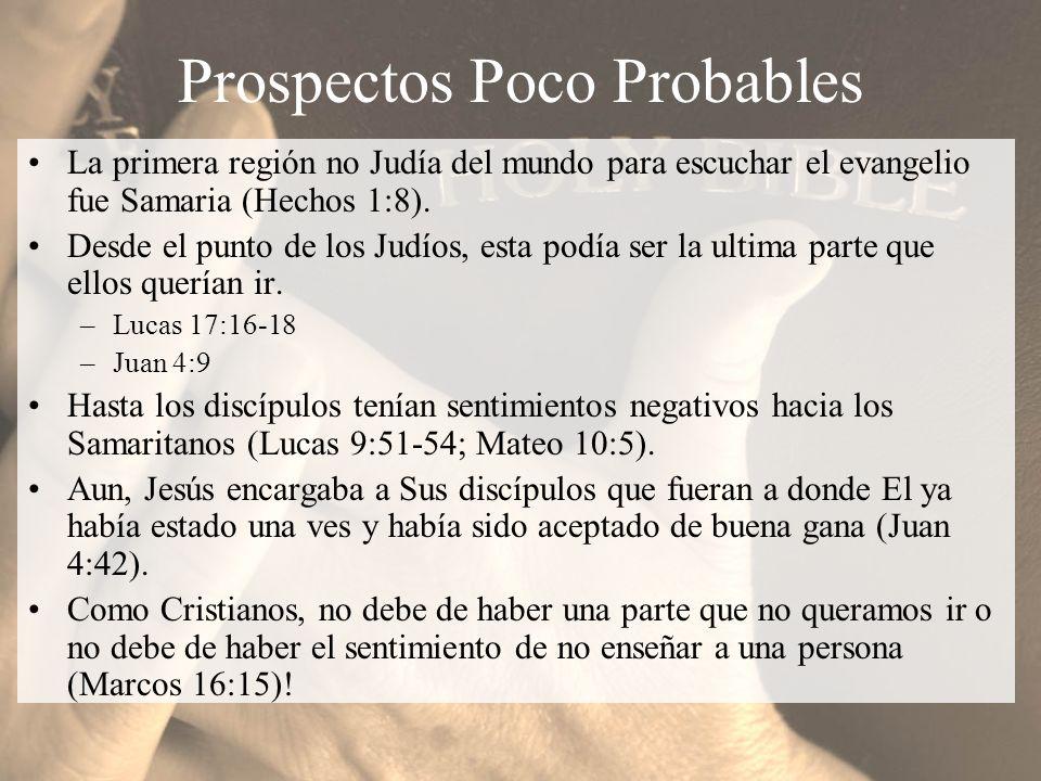 Predicación Única Así como Felipe fue a Samaria el predico de Cristo a ellos (Hechos 8:5).