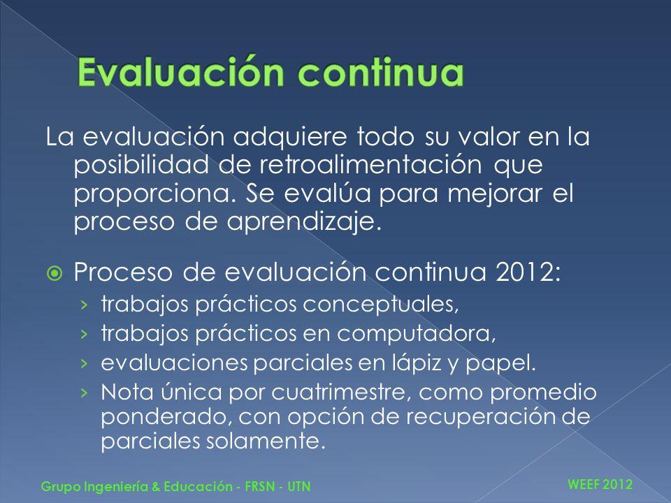 Curso Ingeniería Electrónica 2011: 25 alumnos, de los cuales 16 eran recursantes.