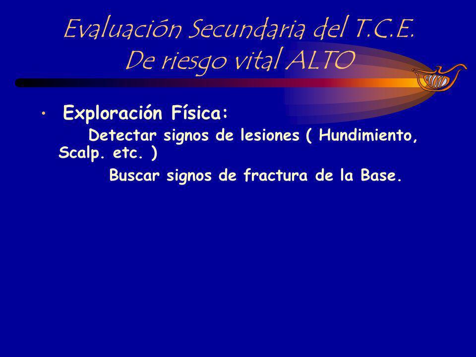 SIGNOS CLINICOS INDICATIVOS DE FRACTURA DE LA BASE DEL CRANEO Equimosis sobre los párpados superiores.