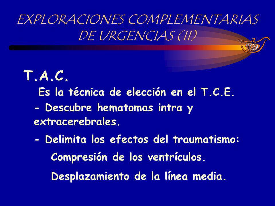 INDICACIONES DE L T.A.C.Fractura con hundimiento.