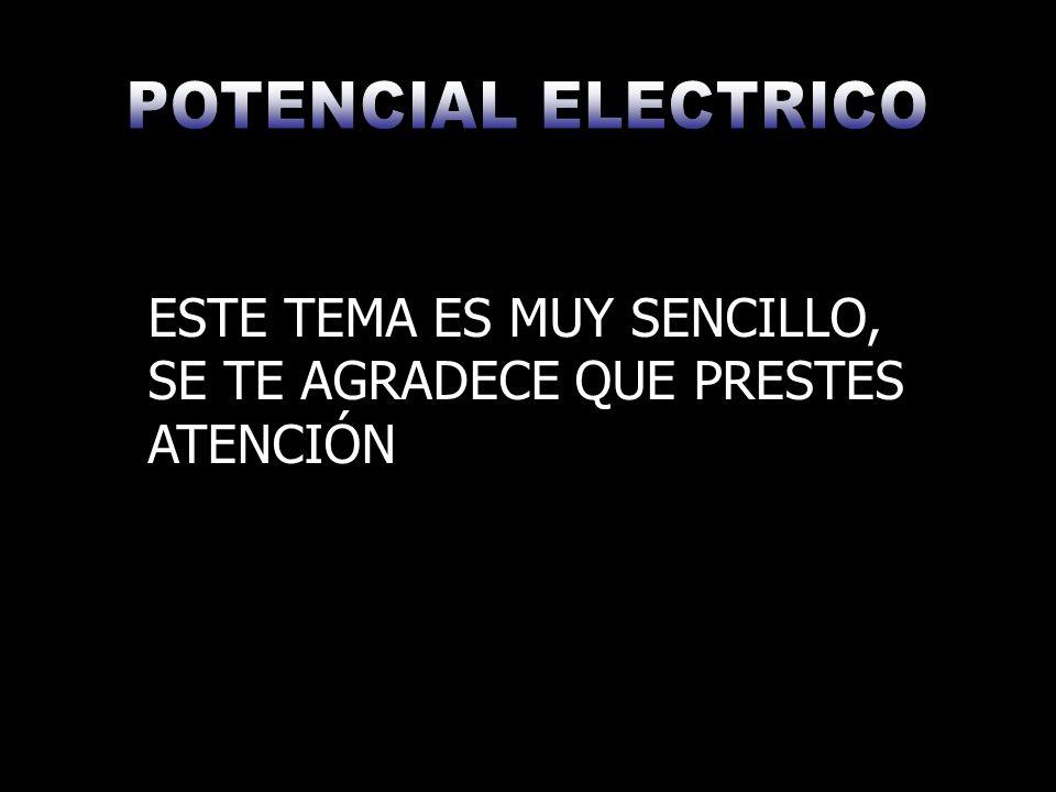 Se puede decir que Potencial Eléctrico es el trabajo necesario que se requiere para transportar una carga puntual desde el infinito hasta un punto dado.