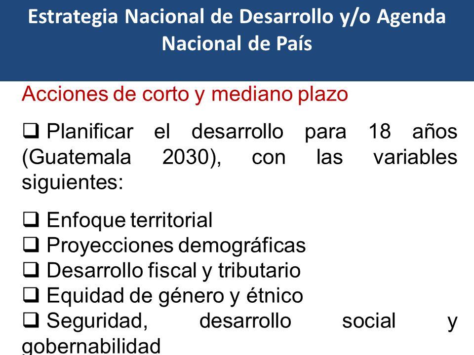 Desafíos Empoderamiento de los resultados de los Planes de Desarrollo para una apropiación plena de las autoridades del Gobierno Central, SISCODE y de las municipalidades.