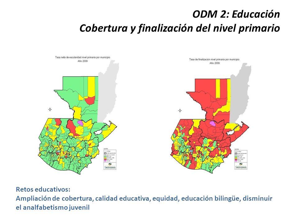 ODM 3:Igualdad de género Relación Niña/niño Nivel primaria