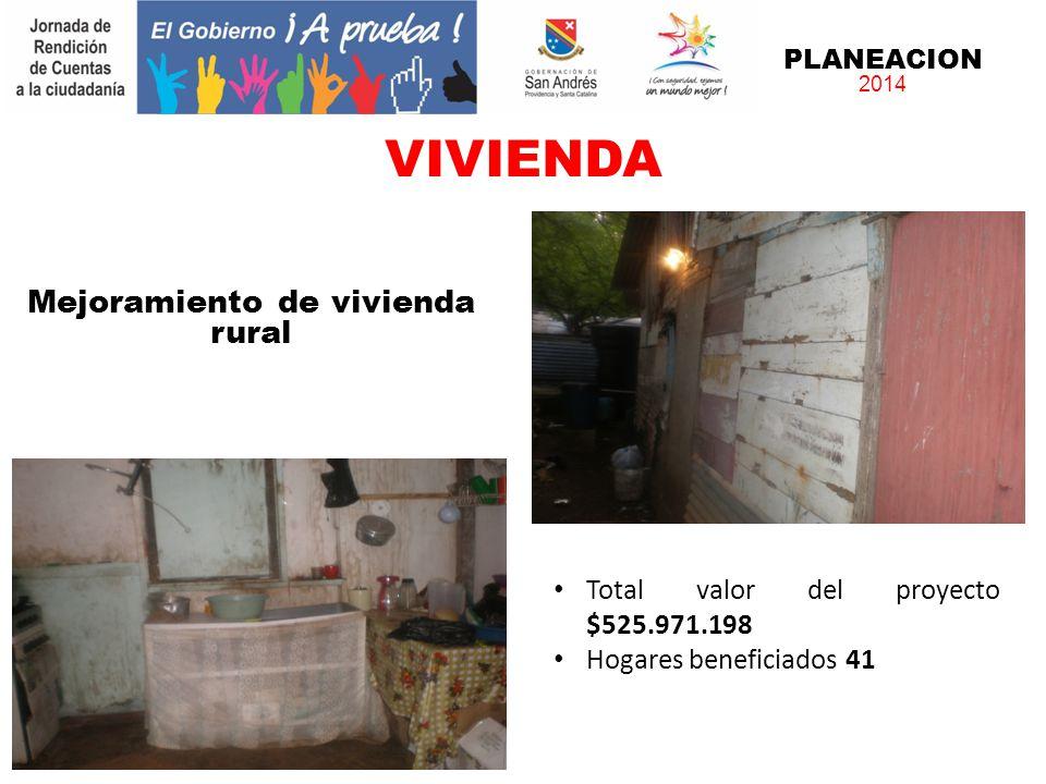 PLANEACION 2014 Mejoramiento de vivienda urbano Total valor del proyecto $2.003.144.000 Hogares beneficiados 170 Valor subsidio por hogar $11.783.200