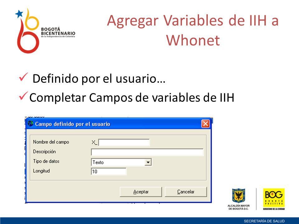 VariableNombre Variable X_INFINTInfección Intrahospitalaria.